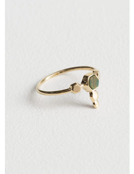 Hexagon Charm Ring by & Other Stories