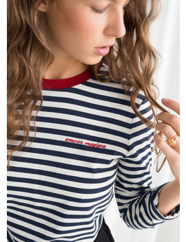 Amour Magique Embroidered T Shirt by & Other Stories