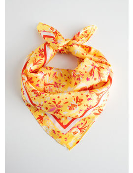 Printed Silk Blend Scarf by & Other Stories