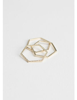 Hexagon Trio Ring Set by & Other Stories