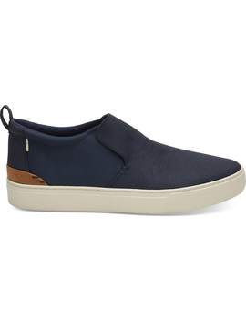 Water Resistant Navy Treated Canvas And Nylon Men's Paxton by Toms
