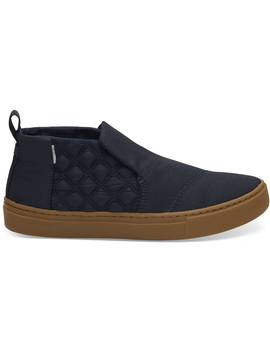 Navy Quilted Women's Paxton Slip Ons by Toms