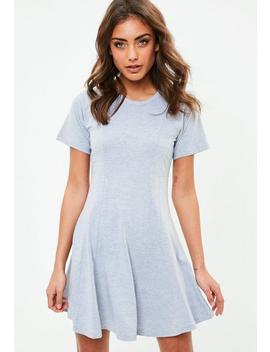 Grey Jersey Skater Dress by Missguided