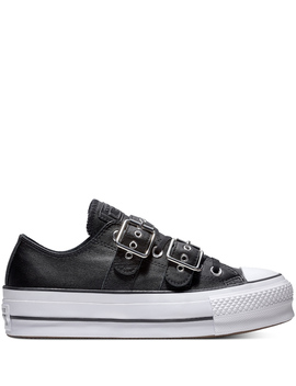 Chuck Taylor All Star Lift Buckle Leather Low Top by Converse