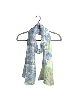 Wisteria Flowers Cashmere &Amp; Silk Scarf by Vida