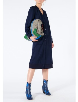 Marsha Luxe Knit Shirred V Neck Cardigan Dress by Tibi