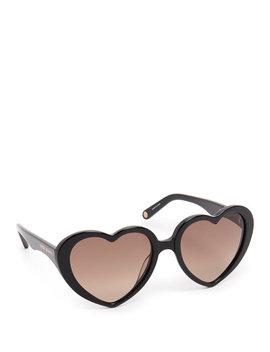 Lovelies Heart Sunglasses by Henri Bendel