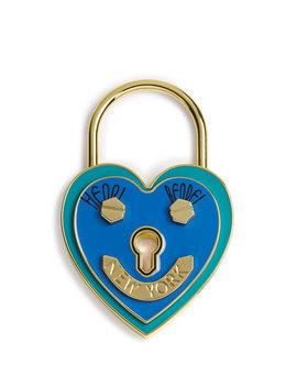 Heart Lock Scarf & Bag Charm Holder by Henri Bendel