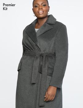 Premier Wrap Robe Coat by Eloquii