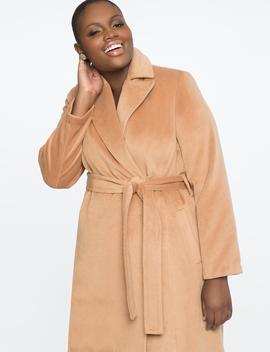 Tie Waist Robe Coat by Eloquii