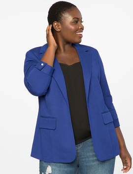 Blazer With Pearl Detail by Eloquii