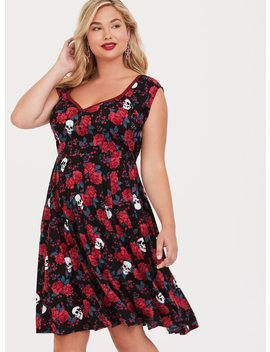 Retro Chic Off Shoulder Skater Dress by Torrid