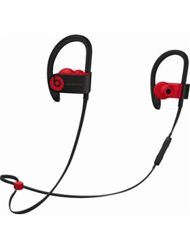 Geek Squad Certified Refurbished Powerbeats³ Wireless Earphones   The Beats Decade Collection   Defiant Black Red by Beats By Dr. Dre