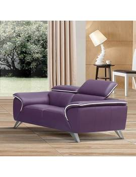 Luca Home Purple Loveseat by Generic