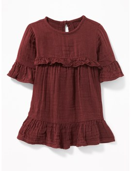 Ruffle Trim Crepe Dress For Baby by Old Navy