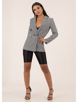 Take Care Of Business Houndstooth Blazer by Go Jane