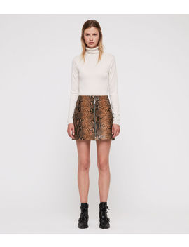 Lena Oba Leather Skirt by Allsaints