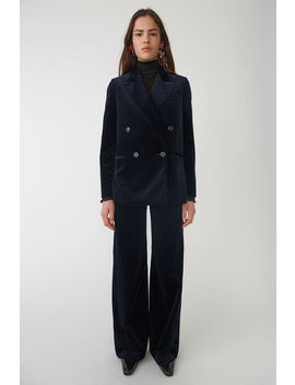Velvet Suit Jacket Navy/Blue by Acne Studios