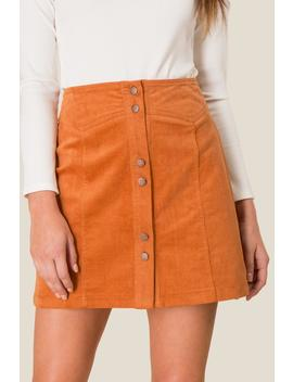 Cecily Button Front Mini Skirt by Francesca's