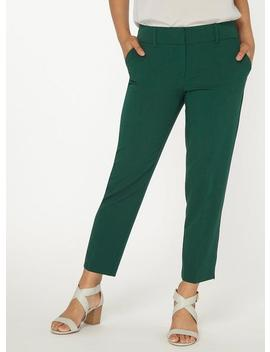 Petite Green 'naples' Ankle Grazer Trousers by Dorothy Perkins