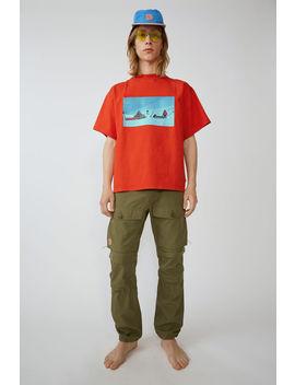 Unisex T Shirt Deep Orange by Acne Studios