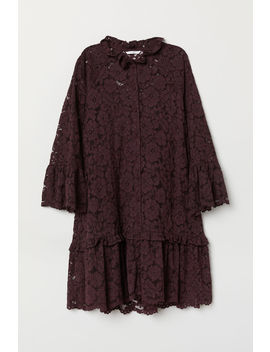 wide-lace-dress by h&m