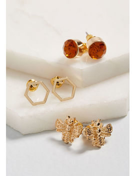 Put It In Hive Stud Earring Set by Modcloth