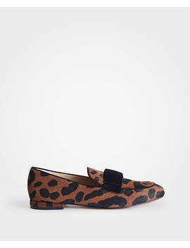 Adeline Hair Calf Bow Loafers by Ann Taylor