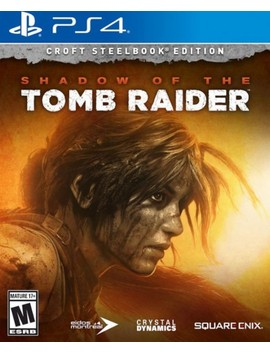 Play Station 4 by Shadow Of The Tomb Raider Croft Steelbook Edition
