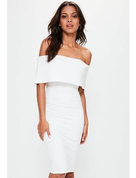 White Cut Out Back Longline Overlay Midi Dress by Missguided