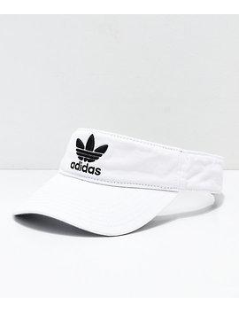 Adidas Tre Foil White Visor by Adidas