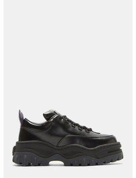 Angel Leather Sneakers In Black by Eytys