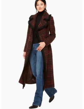 Multi Tweed Fringe Coat by Kate Spade