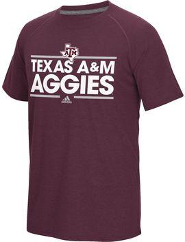 Adidas Men's Texas A&Amp;M Aggies Maroon Dassler Performance T Shirt by Adidas