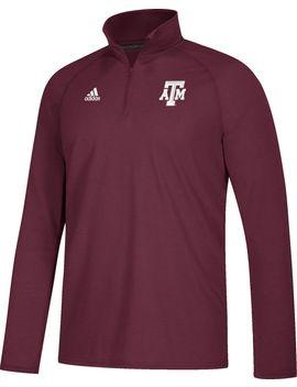 Adidas Men's Texas A&Amp;M Aggies Maroon Long Sleeve Performance Quarter Zip Shirt by Adidas