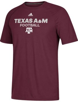 Adidas Men's Texas A&Amp;M Aggies Maroon Ultimate Performance Football T Shirt by Adidas