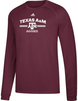 Adidas Men's Texas A&Amp;M Aggies Maroon Go To Long Sleeve Performance Shirt by Adidas