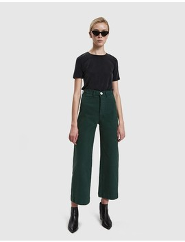 The Sailor Pant In Forest Green by Jesse Kamm