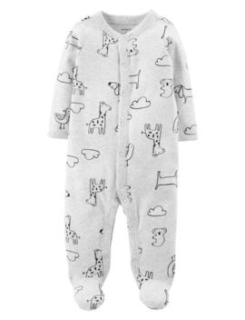 Animal Snap Up Cotton Sleep & Play by Carter's