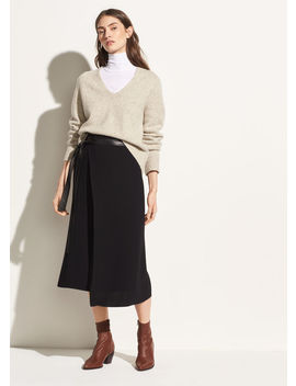 Belted Wrap Skirt by Vince