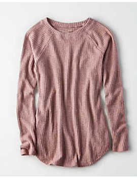 Ae Soft &Amp; Sexy Plush Classic Pullover Sweatshirt by American Eagle Outfitters