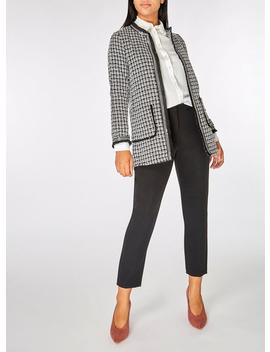 Monochrome Long Boucle Jacket by Dorothy Perkins