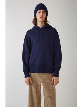 Hooded Sweatshirt Indigo Blue by Acne Studios
