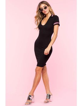Court Side Contrast Bodycon by A'gaci