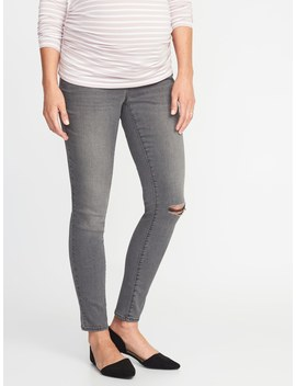 Maternity Side Panel Rockstar Super Skinny Jeans by Old Navy