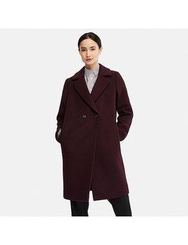 Damen Leichter Woll Mix Mantel by Uniqlo