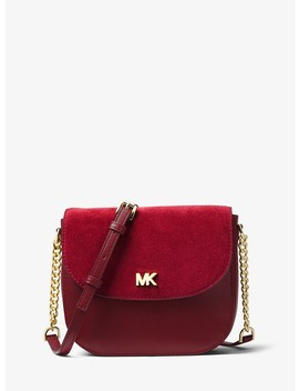 Leather And Suede Saddle Bag by Michael Michael Kors