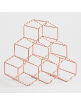 Copper Hexagon 6 Bottle Wine Rack by World Market