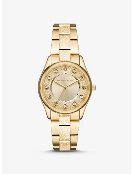 Colette Textured Gold Tone Watch by Michael Kors