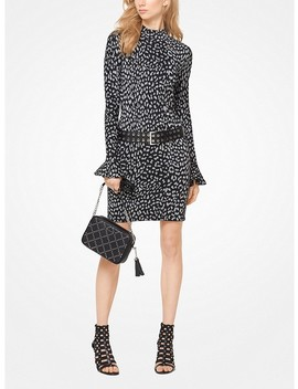 Leopard Jacquard Knit Dress by Michael Michael Kors